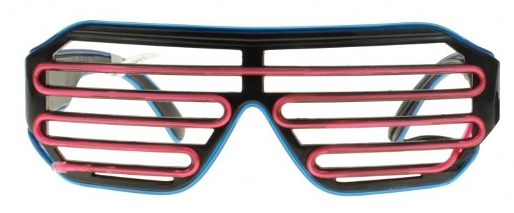 El-Wire shutter bril Blauw/Roze nu voor €12,95