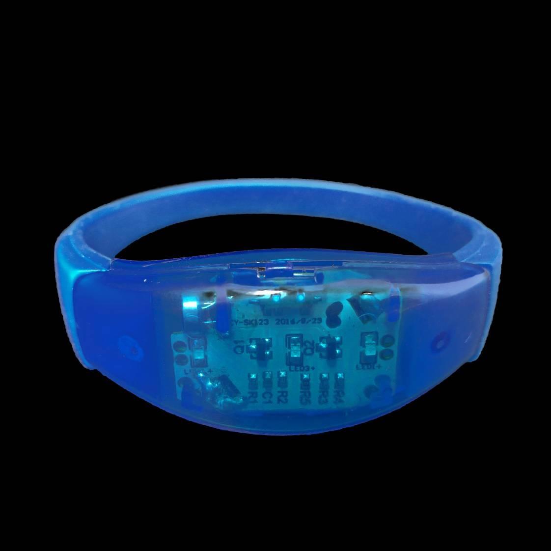 Led armband Blauw (reageert op geluid)