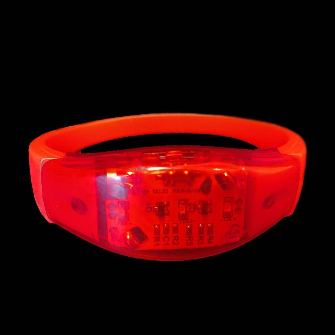Led armband Rood (reageert op geluid)