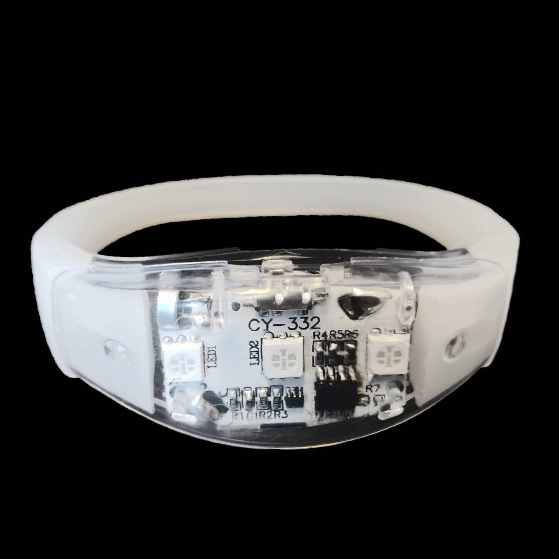 Led armband Wit (reageert op geluid)