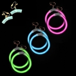 Glowstick oorbel connectors met clipjes (set 2 stuks)