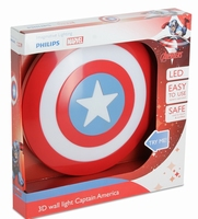 3D Led lamp Captain America Shield Light