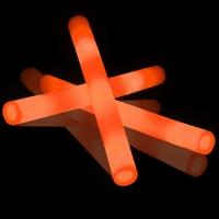 Foamstick Oranje (per 100 stuks)