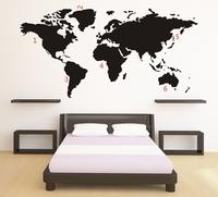 Muursticker - Wereldkaart
