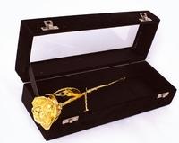 Gouden Roos in Zwartfluwelen doos