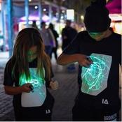 Zwart Shirt met Groene Glow in kindermaten 104-152