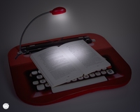 Laptop Blad met LED leeslampje
