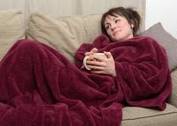 Snug-Rug Sherpa Throw Blanket Plum