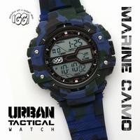 IGGI Camouflage Horloge - Blauw/Groen