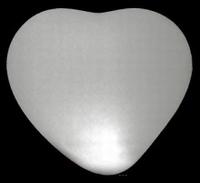 Led ballon Hart Wit (5 stuks)