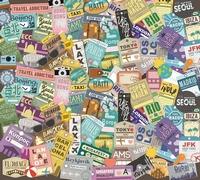 Muursticker - Bagage Labels