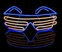 El-Wire shutter bril Blauw/Oranje