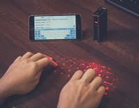 Virtual Laser Keyboard Power Bank