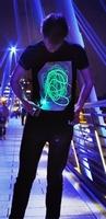 Zwart Glow Shirt (XL)