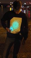 Zwart Sweatshirt met Groene Glow