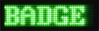 Groene LED Badge 44 x 11 ledjes