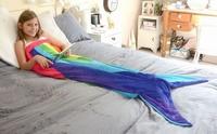 Zeemeermin Regenboog deken