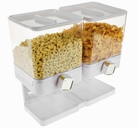 Luxe Dubbele Cornflakes Dispenser - Wit