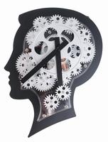 Brain Design Wandklok met Bewegende Tandwielen