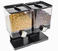 Luxe Dubbele Cornflakes Dispenser - Zwart