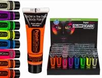 Neon UV Gezicht en Lichaamsverf Assorti Voordeel Pack (8st.)
