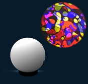 Aura led projector met Oliewiel Multi Kleuren