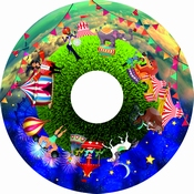 Kleurenwiel Circus voor Aura led projector