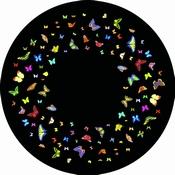 Aura led projector - Magnetisch Effectwiel Vlinders