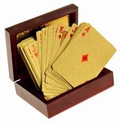 Gouden Speelkaarten met Luxe Bewaardoos