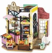 Robotime Carl's fruit shop Poppenhuis met led verlichting