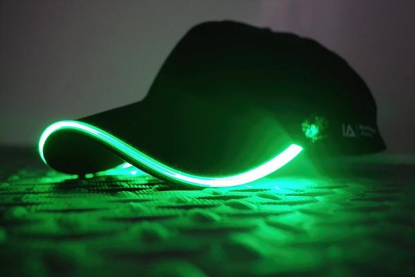 Groen Led Licht : Baseball cap zwart met groen licht