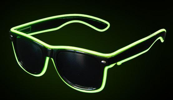 El Wire bril groen