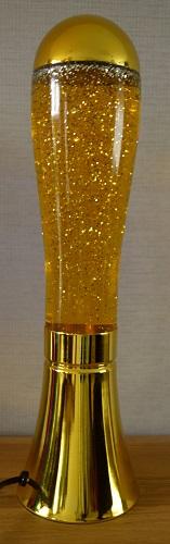 Glitter lamp Goud