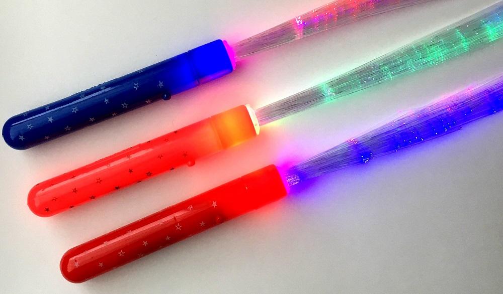 Fibersticks met gekleurde handvaten