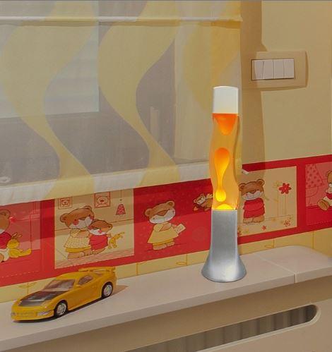 Wave lavalamp Oranje