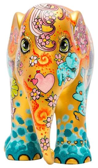 Elephant Parade Stay Gold olifant van 15 cm