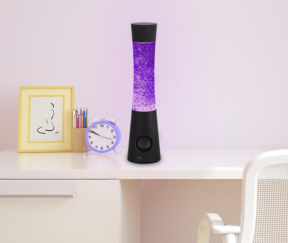 Glitterlamp met bluetooth speaker