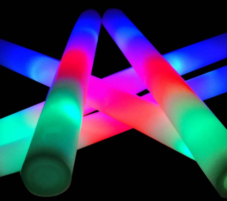 Foamsticks in diverse kleuren